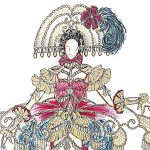 Así es el traje inspirado en 'Las meninas' que Andrea Martínez lucirá en Miss Universo, diseño de Santi Castro