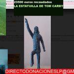 El humorista Kike Pérez subasta en Twitch una estatuilla de Tom Carby,  para ayudar  a La Palma